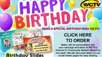 Happy Birthday Announcement on WCTV